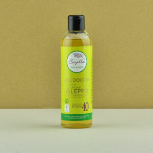 Sarjilla shower gel. Organic Aleppo soap-based shower gel 40%. Buy online.