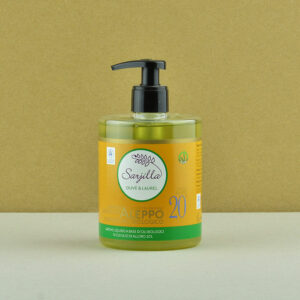 Liquid Aleppo organic soap 20% Sarjilla. Buy now!