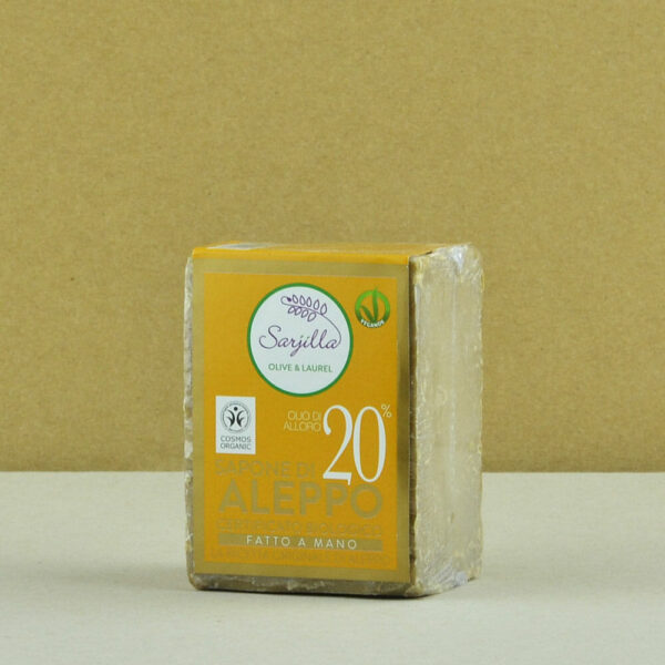 Solid Aleppo organic soap 20% Sarjilla. Buy now!