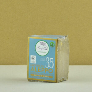 Solid Aleppo organic soap 35% Sarjilla. Buy now!