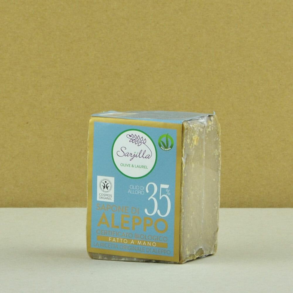 Solid Aleppo organic soap 35% Sarjilla. Buy now!
